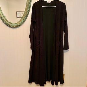 NWOT Solid Black Textured LuLaRoe Sarah Cardigan